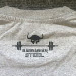 Barbarian steel grey T-shirt